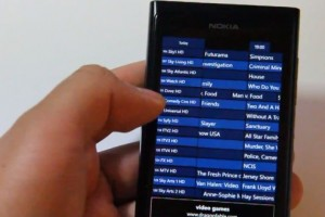 Lumiappaday #210: TV Guide+ demoed on the Nokia Lumia 800