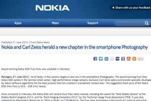 Nokia 808 PureView officially available in Germany (Press Release)