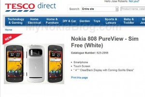 Nokia 808 PureView Sim Free White appears on Tesco (UK)