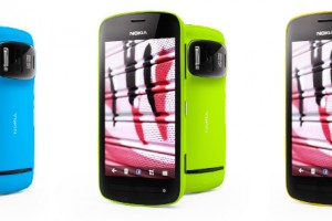 'Shopped: Blue, Lime Green and Yellow Nokia 808 PureView