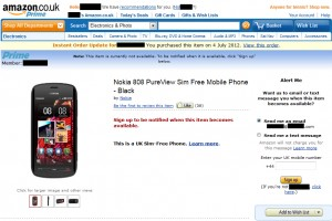 Nokia 808 Pureview delayed & pulled from Amazon UK search results [UPDATED]