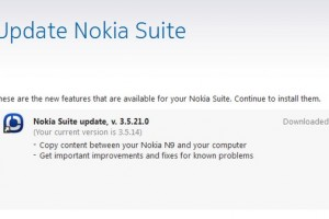 Nokia Suite update, v3.5.21.0 (copy content between N9 and your computer)