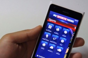 Lumiappaday #234: Sky Sports News demoed on the Nokia Lumia 900