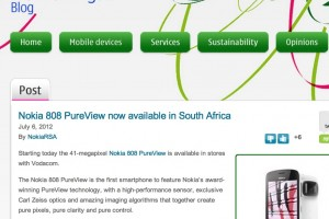 Nokia 808 PureView available in South Africa