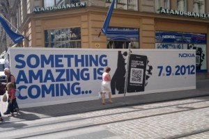 """Something Amazing is coming…7.9.2012″ Nokia Flagship Store Helsinki getting ready for Nokia World goodies?"