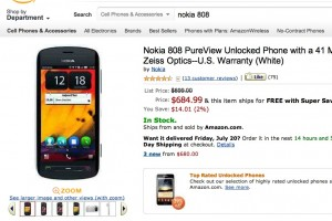 Nokia 808 PureView Stock – Where to buy (USA)