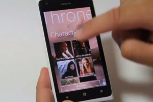 Lumiappaday #254: Game Of Thrones DB demoed on the Nokia Lumia 900