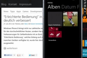 Video: Screenshots demo on WP8