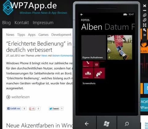 Video: Screenshots demo on WP8 : My Nokia Blog - 200