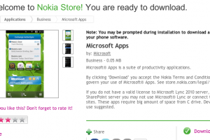 SymbianApps: Microsoft Apps 2.0 suite at Nokia Store
