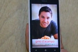 Lumiappaday #276: Eating Italian (with Gino D'acampo) demoed on the Nokia Lumia 900