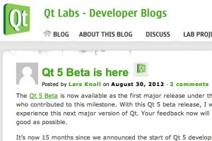 Qt 5 beta released
