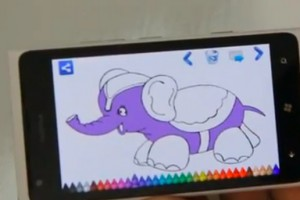 Lumiappaday #288: Coloring Book demoed on the Nokia Lumia 900 (KidsApp)