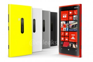 Evleaks Confirms Lumia 920 in White, Black, Grey, Red & Yellow; Cyan Nowhere to be Seen