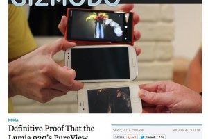 "Gizmodo: ""Definitive proof that the Nokia Lumia 920 camera is awesome"" – thrashing SGSIII and iPhone 4S"