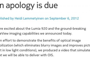 Nokia issues apology for OIS confusion; Publishes actual Lumia 920 footage