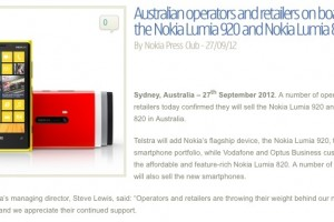 Lumia 820/920 confirmed for Australia; Pricing and release date comes to Italy