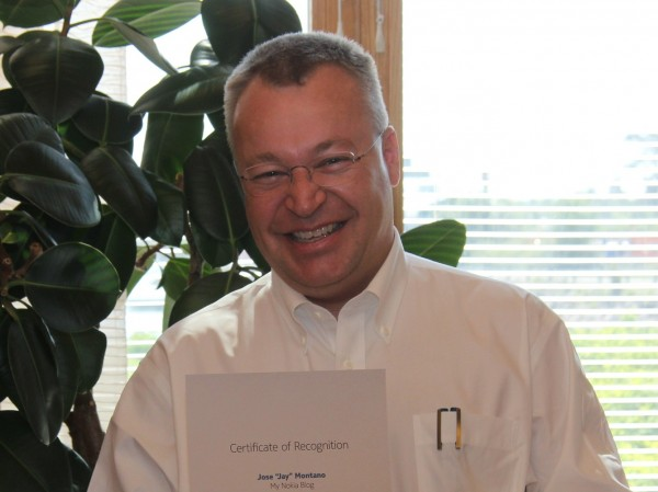 Nokia reveal's Stephen Elop's 2012 Salary. Base salary up but no bonuses, effectively half of 2011 salary