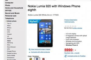 Nokia Lumia 920 pre-order in Sweden.