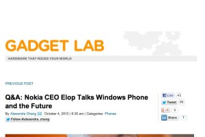 Stephen Elop interviewed at Wired