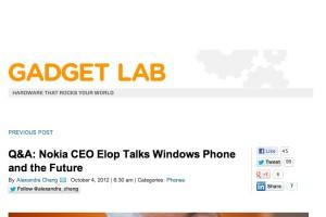 Stephen Elop interviewed at Wired