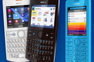 "New Nokia Asha 205 and 206 phones announced with ""slam"" sharing. Facebook button for 205."