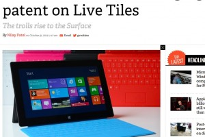 Microsoft sued for Live Tiles