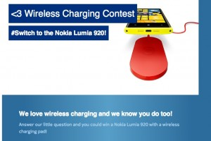 Win a Nokia Lumia 920 and Wireless charger