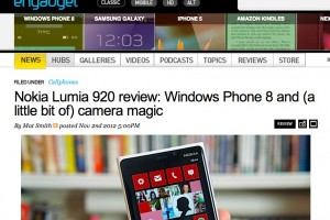 Weekend Read: Engadget's Nokia Lumia 920 Review