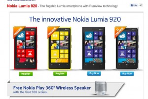 Nokia Lumia 920 Red and Yellow appear on Phones4U (+Free Play360 for first 500)