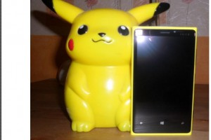 Pikachu and Electric Pikachu Yellow Nokia Lumia 920!