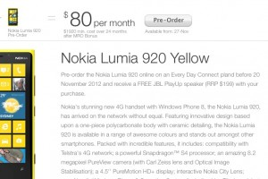 Lumia 920 launches Nov 29 in Australia; Pre-Order for Free JBL