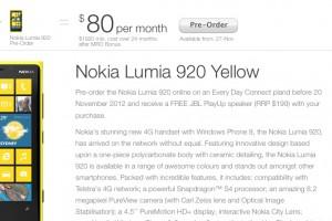 Lumia 920 launches Nov 29 in Australia; Pre-Order for Free JBL