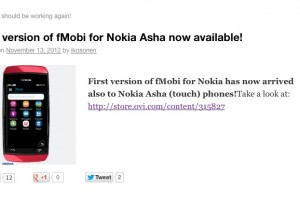 FMobi now available for Asha Touch devices