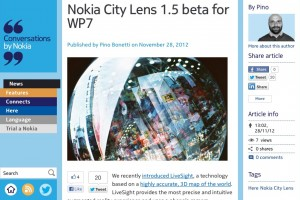 Nokia City Lens updated to 1.5 Beta for WP7 Lumia