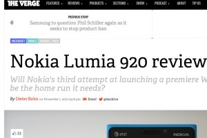The Verge&#8217;s Huge Nokia Lumia 920 review