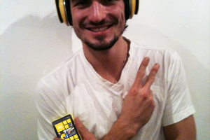 Borussia Dortmund's Mats Hummels posing with his Yellow Nokia Lumia 920