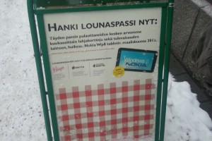 Finnish Restaurant preemptively promotes Nokia Windows Tablet as a prize for March 2013