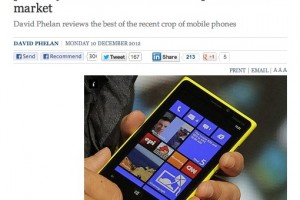 "The Independent loves the Nokia Lumia 920 – ""The most advanced smartphone on the market"""