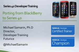 Series 40 Webinar: Porting BlackBerry apps to the Series 40 platform