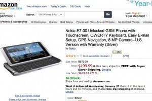 Nokia E7 for 199USD on Amazon.com