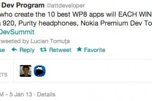 #ATTDevSummit to give 10 best  WP8 App Creators Nokia Lumia 920, Surface, Purity Headphones and more!
