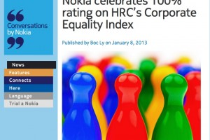 NokConv: Nokia celebrates 100% rating on HRC's Corporate Equality Index #LGBT