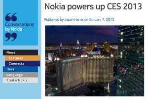 NokConv: Nokia powers up CES 2013 #NokiaPoweredMeUp