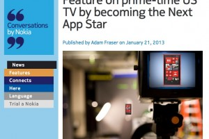 NokConv: Feature on prime-time US TV by becoming the Next App Star
