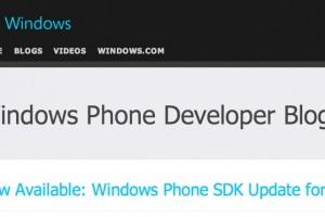 WP Developer Blog: Windows Phone SDK Update for 7.8 now available