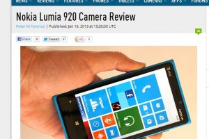 Camera Experts, DPReview Connect takes the Nokia Lumia 920 for a spin.