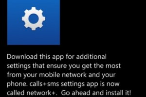 """Network +"" Update for WP8 Available"
