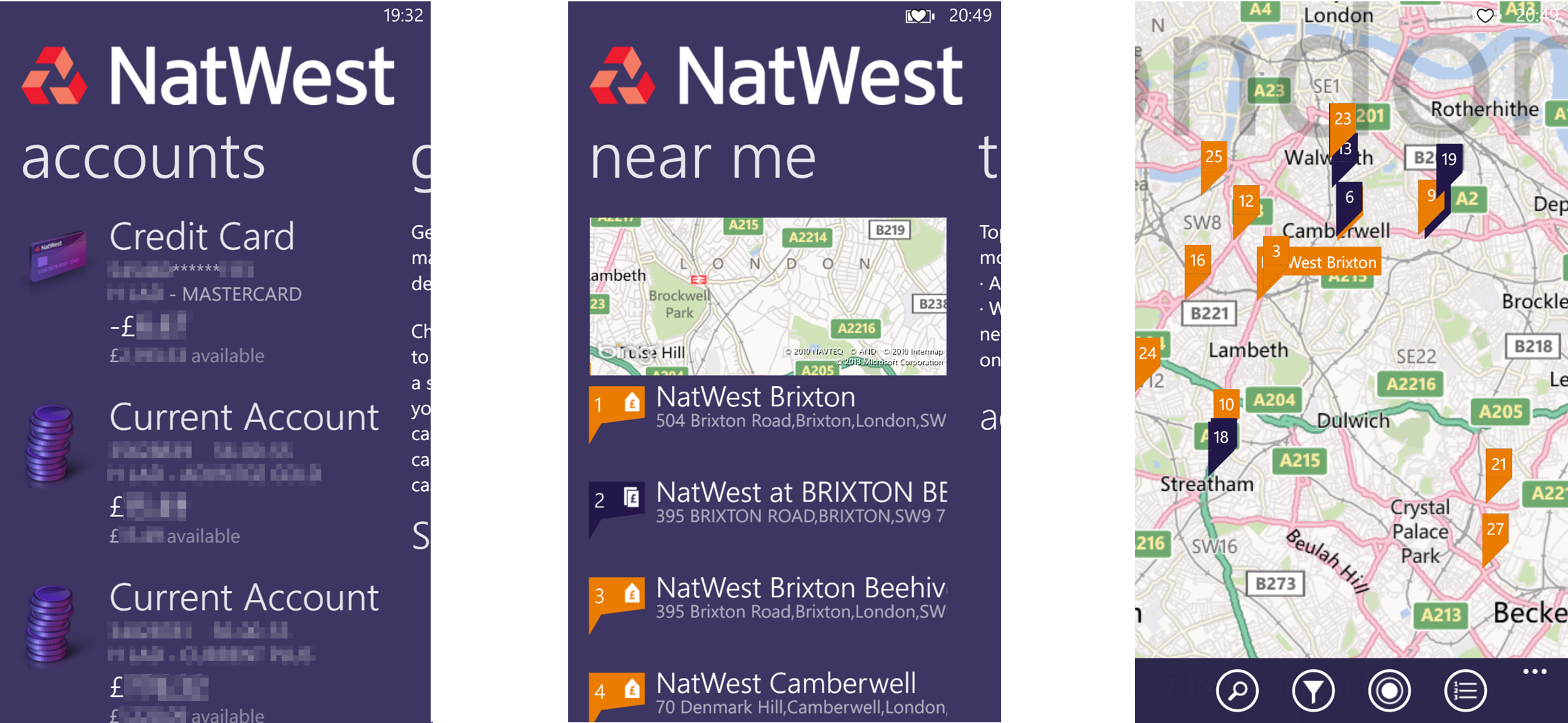NatWest App (4) Accounts and Branches