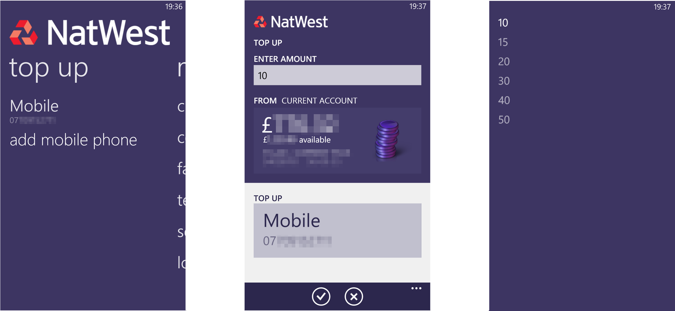 NatWest App (7) TopUp